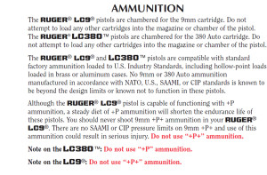 excerpt from Ruger LC380 & LC9 owner's manual